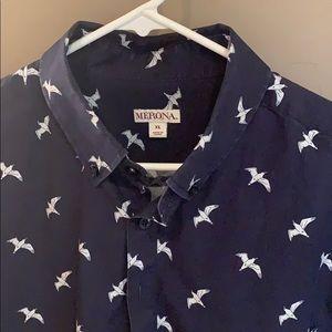 XL Merona bird pull over dress shirt